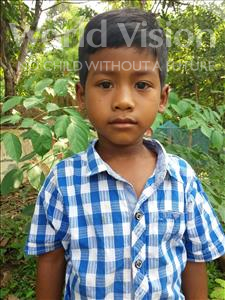 Choose a child to sponsor, like this little boy from Soutr Nikom, Visal age 6