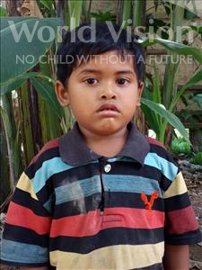 Choose a child to sponsor, like this little boy from Soutr Nikom, Ravith age 4