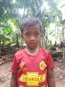 Choose a child to sponsor, like this little boy from Soutr Nikom, Ketaya age 5