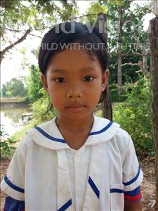 Choose a child to sponsor, like this little girl from Soutr Nikom, Sreinith age 8