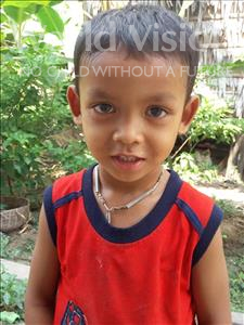 Choose a child to sponsor, like this little boy from Soutr Nikom, Chantha age 5