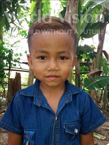 Choose a child to sponsor, like this little boy from Soutr Nikom, Sinath age 6