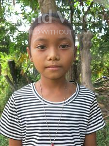 Choose a child to sponsor, like this little girl from Soutr Nikom, Panha age 9