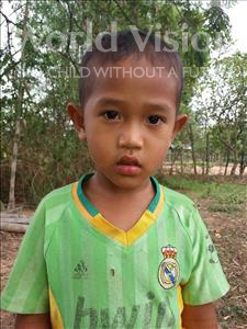 Choose a child to sponsor, like this little boy from Soutr Nikom, Tonghakk age 5