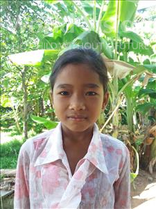 Choose a child to sponsor, like this little girl from Soutr Nikom, Enh Sae age 9