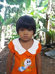 Choose a child to sponsor, like this little girl from Soutr Nikom, Chiva age 5