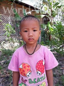 Choose a child to sponsor, like this little girl from Soutr Nikom, Ravy age 4