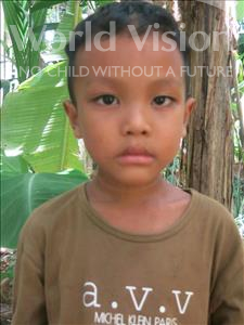 Choose a child to sponsor, like this little boy from Soutr Nikom, Koma age 6