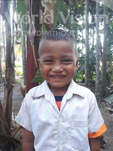 Choose a child to sponsor, like this little girl from Soutr Nikom, Reaksa age 5