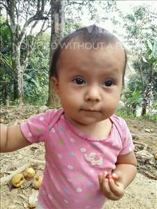 Choose a child to sponsor, like this little girl from Maya, Nathaly Fernanda age 1