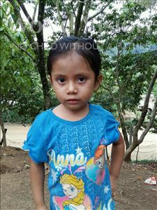 Choose a child to sponsor, like this little girl from Maya, Edila Octavila age 4