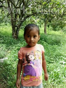 Choose a child to sponsor, like this little girl from Maya, Yeimi Marilu age 4