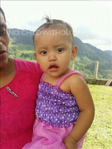 Choose a child to sponsor, like this little girl from Maya, Lesvia Dixiana age 1