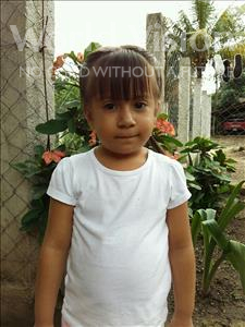 Choose a child to sponsor, like this little girl from Maya, Ixel Altahir age 4