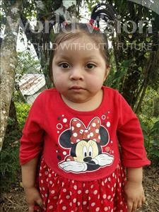 Choose a child to sponsor, like this little girl from Maya, Marcela Mirelda age 3