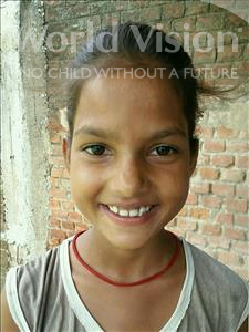 Choose a child to sponsor, like this little girl from Bhojpur, Prity age 10