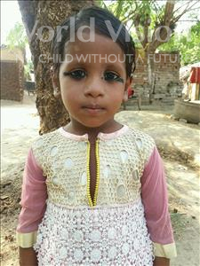 Choose a child to sponsor, like this little girl from Bhojpur, Urmilla age 3