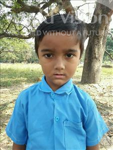 Ayush, aged 5, from India, is hoping for a World Vision sponsor