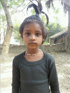 Choose a child to sponsor, like this little girl from Bhojpur, Aradhana age 7