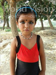Choose a child to sponsor, like this little girl from Bhojpur, Aditya age 7