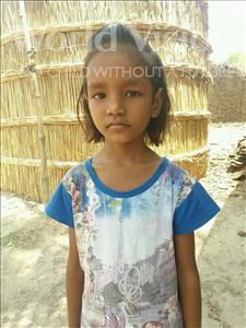 Choose a child to sponsor, like this little girl from Bhojpur, Shakshi age 9