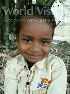 Manish, aged 5, from India, is hoping for a World Vision sponsor