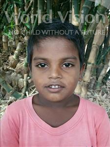 Sangam, aged 6, from India, is hoping for a World Vision sponsor
