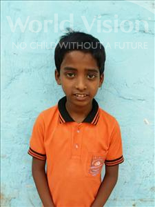 Choose a child to sponsor, like this little boy from Patna, Suraj age 9