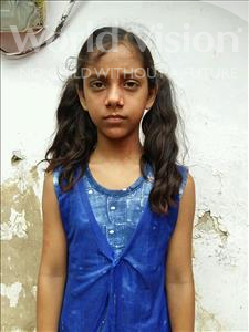 Choose a child to sponsor, like this little girl from Patna, Prachi age 11
