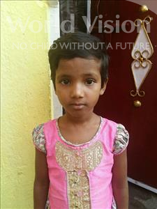 Choose a child to sponsor, like this little girl from Patna, Ananya age 7