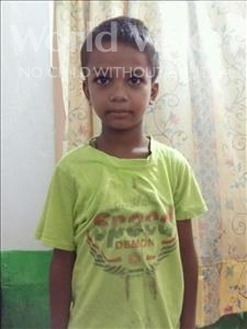 Choose a child to sponsor, like this little boy from Patna, Samir age 8