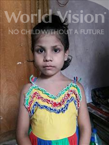 Choose a child to sponsor, like this little girl from Patna, Mahi age 7