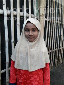 Choose a child to sponsor, like this little girl from Patna, Sumaiya age 7