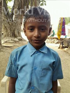 Choose a child to sponsor, like this little boy from Patna, Raju age 10