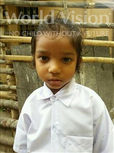 Choose a child to sponsor, like this little girl from Patna, Prince age 4