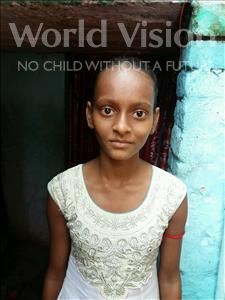 Choose a child to sponsor, like this little girl from Patna, Radha age 8