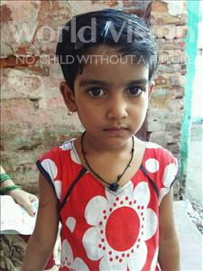 Choose a child to sponsor, like this little girl from Patna, Sandhya age 5