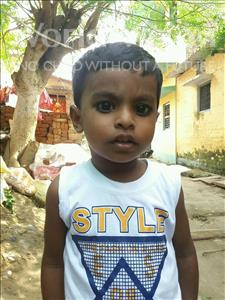 Choose a child to sponsor, like this little girl from Patna, Ankit age 3