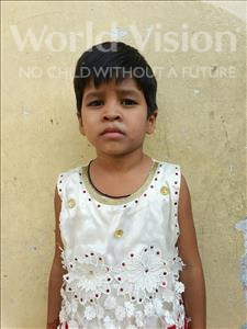 Choose a child to sponsor, like this little girl from Patna, Raj Nandini age 5