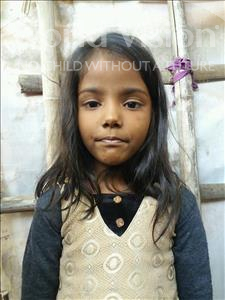 Choose a child to sponsor, like this little girl from Patna, Riya age 6