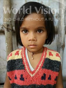 Choose a child to sponsor, like this little girl from Patna, Radhika age 3