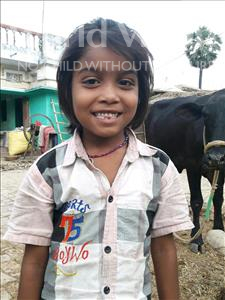 Choose a child to sponsor, like this little girl from Vaishali, Puslata age 7