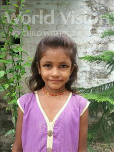 Choose a child to sponsor, like this little girl from Vaishali, Sadhani age 9