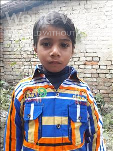 Choose a child to sponsor, like this little boy from Vaishali, Suraj age 7