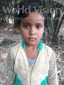 Choose a child to sponsor, like this little girl from Vaishali, Sonam age 7