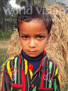 Choose a child to sponsor, like this little boy from Vaishali, Gajendar age 5