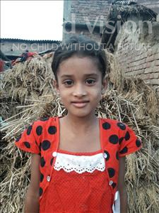 Choose a child to sponsor, like this little girl from Vaishali, Shilpa age 7