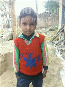 Choose a child to sponsor, like this little boy from Vaishali, Santanu age 7