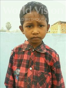 Choose a child to sponsor, like this little boy from Vaishali, Shivam age 7