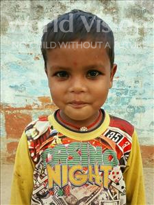 Choose a child to sponsor, like this little boy from Vaishali, Suraj age 5